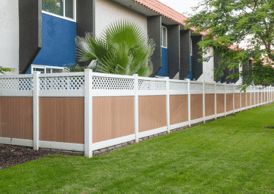Tremendous Private Back Yards with vinyl fencing & lush landscape